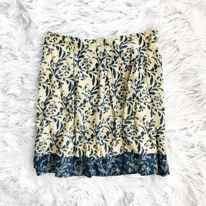Anthropologie Odille printed cotton skirt